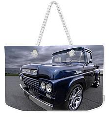 1959 Ford F100 Dark Blue Pickup Weekender Tote Bag by Gill Billington