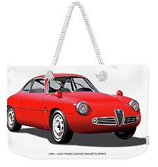 1960 Alfa Romeo Zagato Giulietta Sprint Weekender Tote Bag