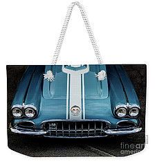 Weekender Tote Bag featuring the photograph 1960 Corvette by M G Whittingham