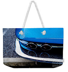 Weekender Tote Bag featuring the photograph 1965 Corvette Sting Ray by M G Whittingham