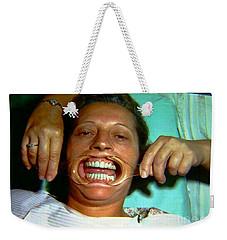 1960s Dental Exam Weekender Tote Bag by Peter Gumaer Ogden