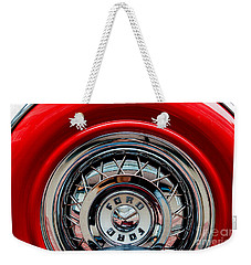 Weekender Tote Bag featuring the photograph 1958 Ford Crown Victoria Wheel by M G Whittingham