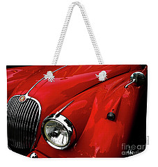Weekender Tote Bag featuring the photograph 1960s Jaguar by M G Whittingham