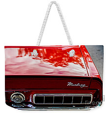 Weekender Tote Bag featuring the photograph 1967 Mustang by M G Whittingham