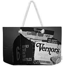 1960's Vernors Box. No Deposit, No Rerurn  Weekender Tote Bag by Sandra Church
