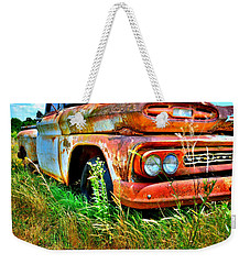 Weekender Tote Bag featuring the photograph 1961 Chevrolet Apache 10 5 by Lisa Wooten