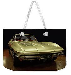 Weekender Tote Bag featuring the photograph 1963 Chevrolet Corvette Split Window by Chris Flees