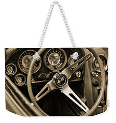 1963 Chevrolet Corvette Steering Wheel - Sepia Weekender Tote Bag