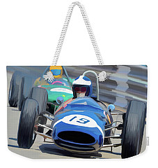 1963 Cooper T66 Coming Out Of Monaco's Mirabeau Weekender Tote Bag by Wally Hampton