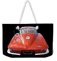 1963 Corvette Stingray Split Window Rear Weekender Tote Bag