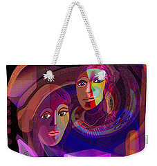 Weekender Tote Bag featuring the digital art 1963 - Pandoras Magic Box 2017 by Irmgard Schoendorf Welch