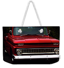 Weekender Tote Bag featuring the photograph 1964 Chevrolet Pick Up by Baggieoldboy
