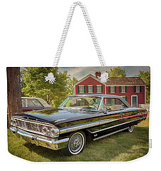 Weekender Tote Bag featuring the photograph 1964 Ford Galaxie 500 Xl by Susan Rissi Tregoning