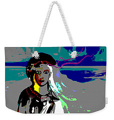 Weekender Tote Bag featuring the digital art 1964 - Walk On The Seaside by Irmgard Schoendorf Welch
