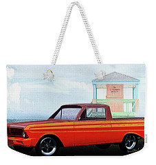 1965 Ford Falcon Ranchero Day At The Beach Weekender Tote Bag