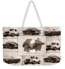 1965 Ford Mustang Collage I Weekender Tote Bag by Gary Bodnar