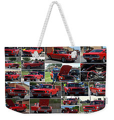 1965 Mustang Fastback Collage Weekender Tote Bag