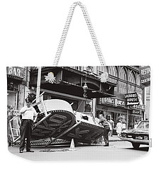 1965 Removing Rko Theater Sign Boston Weekender Tote Bag by Historic Image