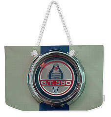 Weekender Tote Bag featuring the photograph 1965 Shelby Gt 350 Filler Cap by Chris Flees