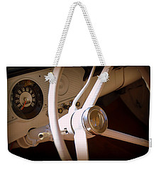Weekender Tote Bag featuring the photograph 1966 Ford F100 Interior by Lisa Wooten