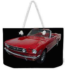 1966 Ford Mustang Convertible Weekender Tote Bag