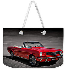 1966 Ford Mustang Convertible Weekender Tote Bag
