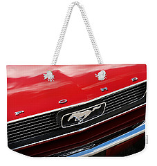 Weekender Tote Bag featuring the photograph 1966 Ford Mustang by Gordon Dean II