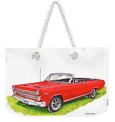Weekender Tote Bag featuring the painting 1966 Mercury Cyclone Convertible G T by Jack Pumphrey