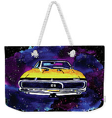 Weekender Tote Bag featuring the painting 1967 Chevy Camaro Ss by Paula Ayers