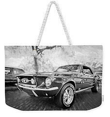 1967 Ford Mustang Coupe Bw C119 Weekender Tote Bag