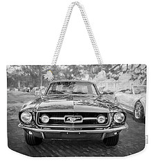 1967 Ford Mustang Coupe Bw C122 Weekender Tote Bag