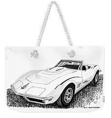 1968 Corvette Weekender Tote Bag by Jack Pumphrey