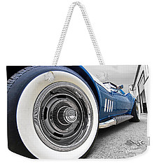 1968 Corvette White Wall Tires Weekender Tote Bag