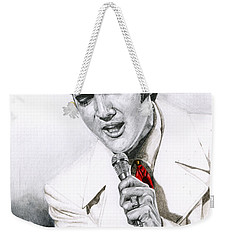 1968 White If I Can Dream Suit Weekender Tote Bag