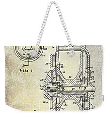 1969 Fly Reel Patent Weekender Tote Bag by Jon Neidert
