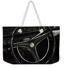 Weekender Tote Bag featuring the photograph 1969 Plymouth Road Runner A12 Dash by Chris Flees
