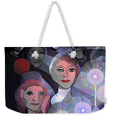 Weekender Tote Bag featuring the digital art 1970 - A Ceremony by Irmgard Schoendorf Welch