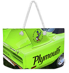 1970 Plymouth Superbird Weekender Tote Bag by Gordon Dean II