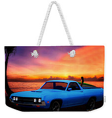 1970 Ranchero Dominican Beach Sunrise Weekender Tote Bag