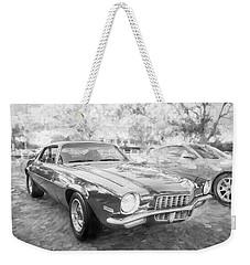 1971 Chevrolet Camaro Bw C129 Weekender Tote Bag