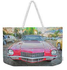 1971 Chevrolet Camaro C130 Weekender Tote Bag by Rich Franco