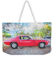 1971 Chevy Camaro C126  Weekender Tote Bag