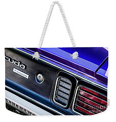 Weekender Tote Bag featuring the photograph 1971 Cuda by Brad Allen Fine Art