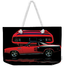 1971 Plymouth Cuda 440 Six Pack    Weekender Tote Bag