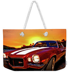 1971 Z28 Camaro Hdr Vivid Remembrance Weekender Tote Bag