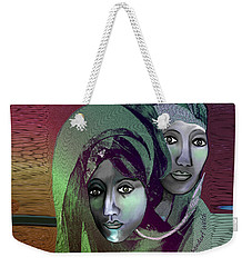 Weekender Tote Bag featuring the digital art 1972 - 0n A Gloomy Day - 2017 by Irmgard Schoendorf Welch