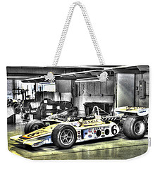 Bobby Unser 1972 Olsonite Eagle Pole Position Car  Weekender Tote Bag