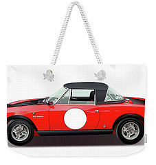 1972 Fiat 124 Spider Abarth Illustration Weekender Tote Bag