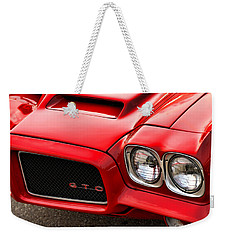 Weekender Tote Bag featuring the photograph 1972 Pontiac Gto by Gordon Dean II