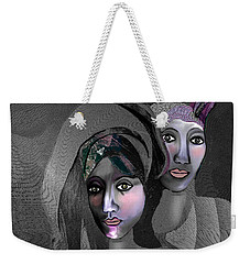 Weekender Tote Bag featuring the digital art 1973 - Exotic 2017 by Irmgard Schoendorf Welch